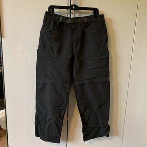 The Northface gray cargo pants zipped convertible